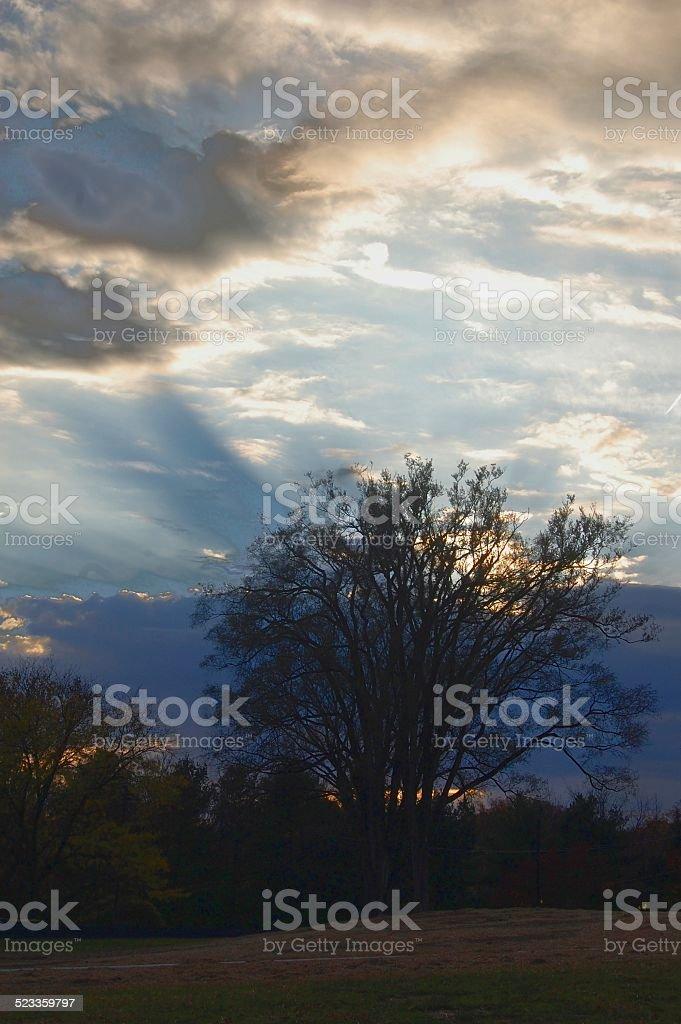 Sunrise on Maryland stock photo