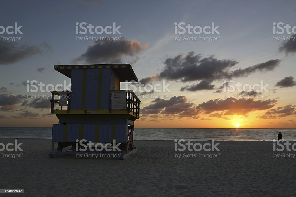 Sunrise on Miami Beach royalty-free stock photo