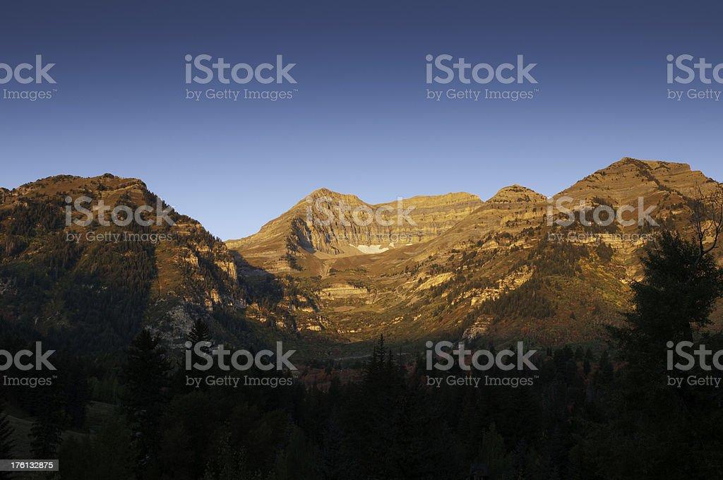 Sunrise on Mountain stock photo