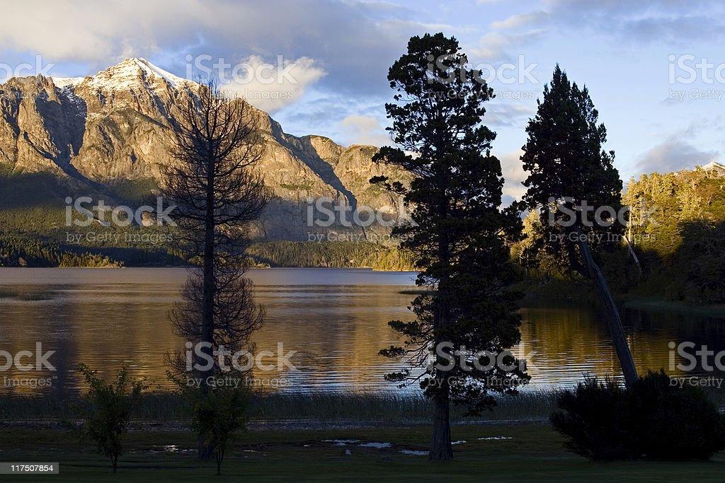 Sunrise on Nahuel Huapi (Bariloche) royalty-free stock photo