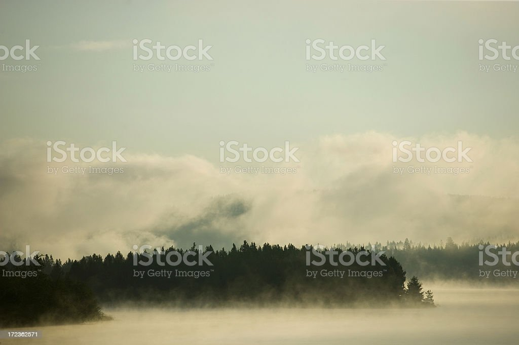 Sunrise on Pend Oreille River royalty-free stock photo