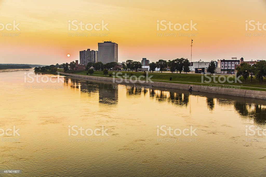 Sunrise on Prince Albert stock photo