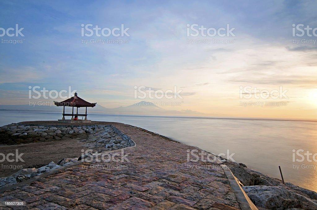Sunrise on Sanur beach, Bali royalty-free stock photo