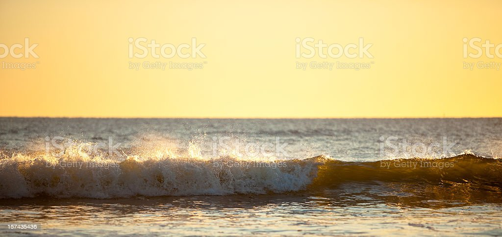 Sunrise on the beach royalty-free stock photo
