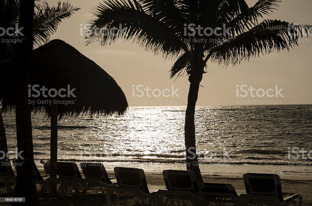 Sunrise on the beach royalty-free stock photo