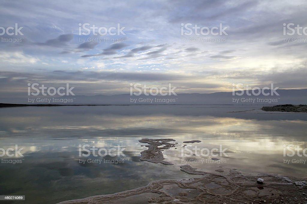 Sunrise on the Dead Sea royalty-free stock photo