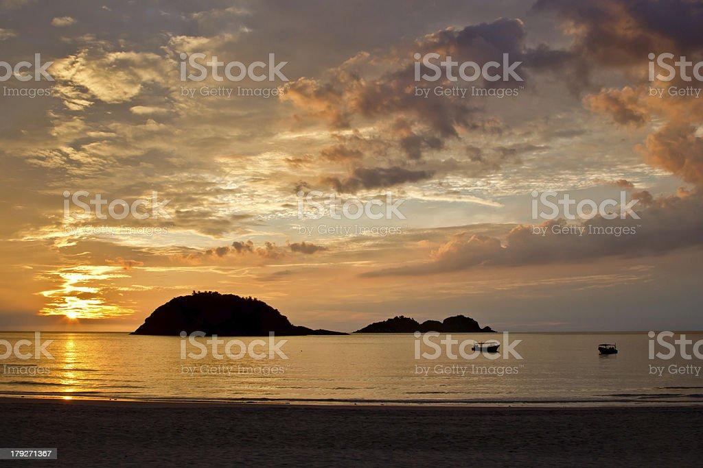Sunrise on the island of Redang royalty-free stock photo