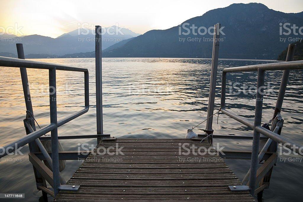 Sunrise on the Lake royalty-free stock photo