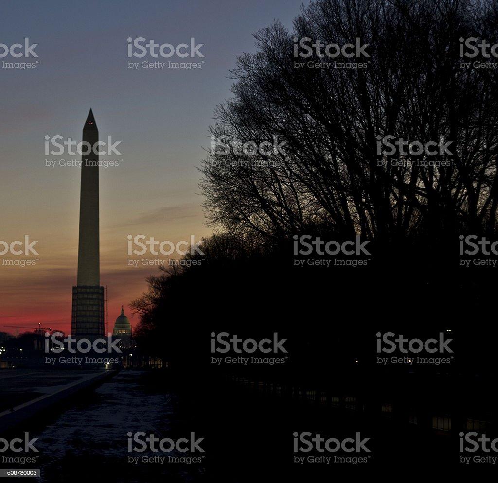 Sunrise on The Mall stock photo