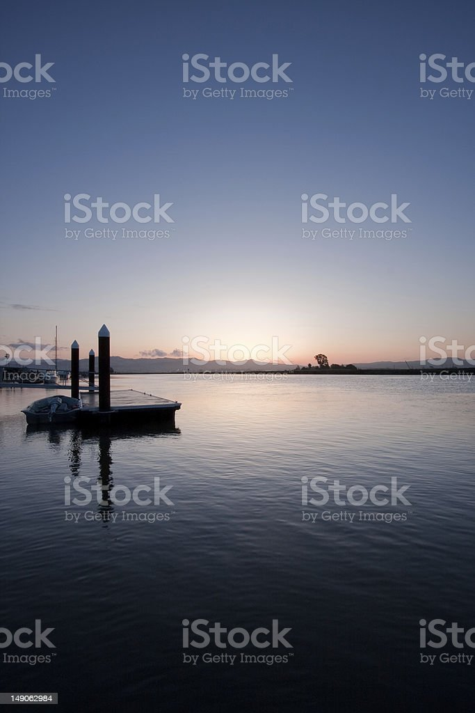 sunrise on the Napa river stock photo