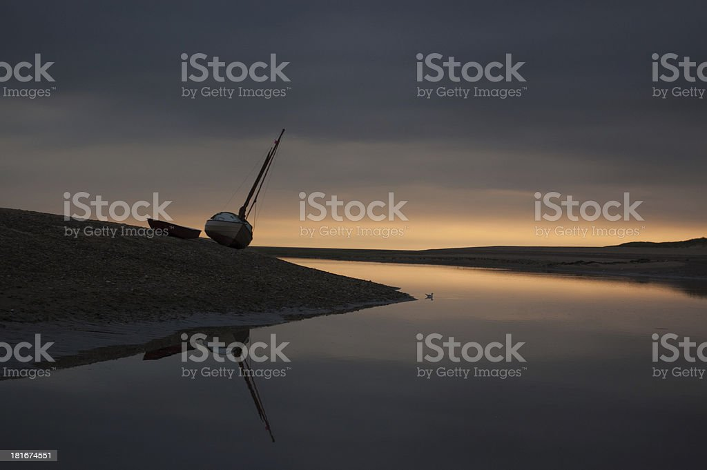 Sunrise on the Norfolk coast royalty-free stock photo