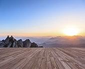 sunrise on the peak, laojun mountain at henan china