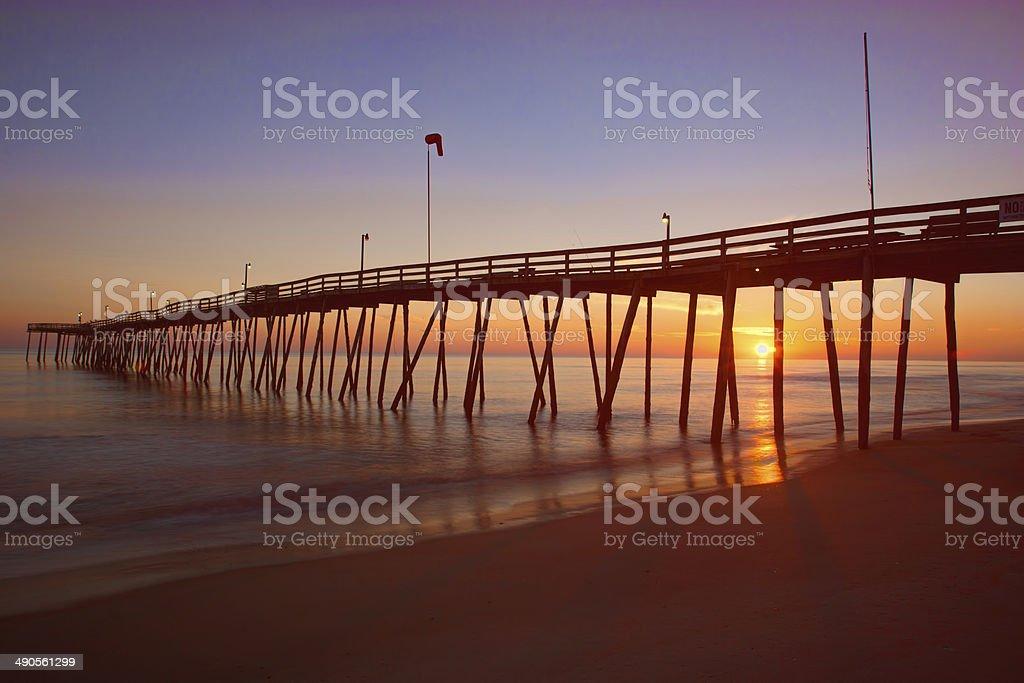 Sunrise on the Pier stock photo