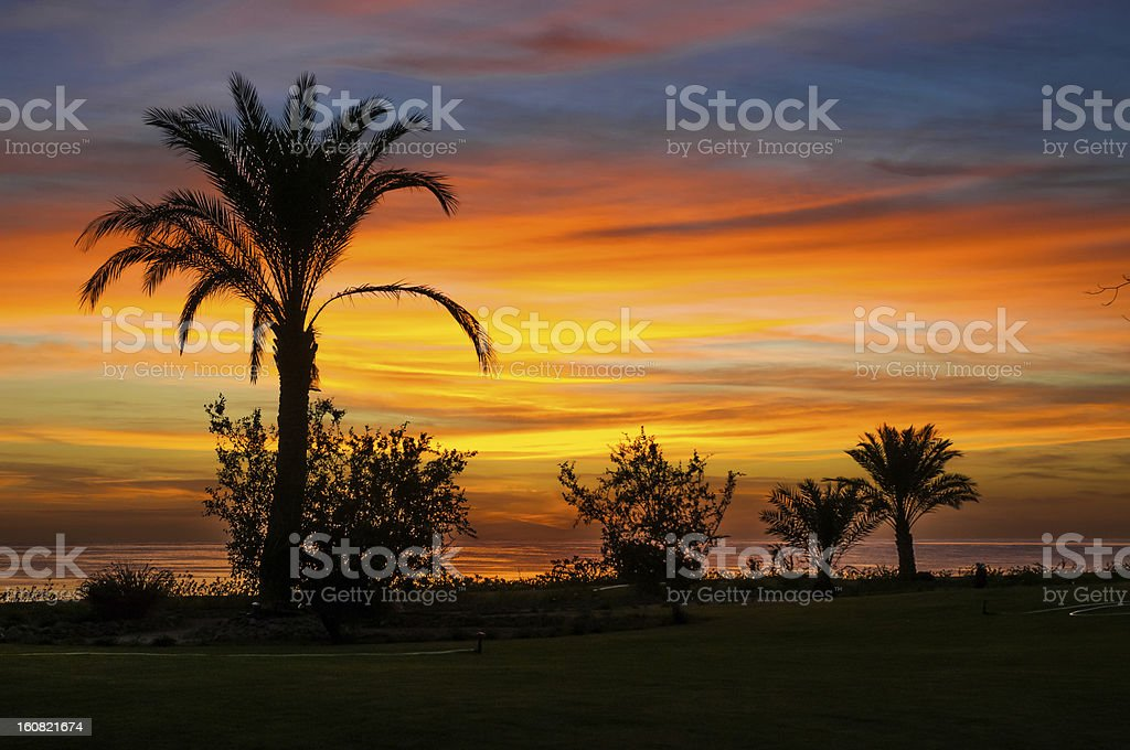 Sunrise on the Red Sea royalty-free stock photo