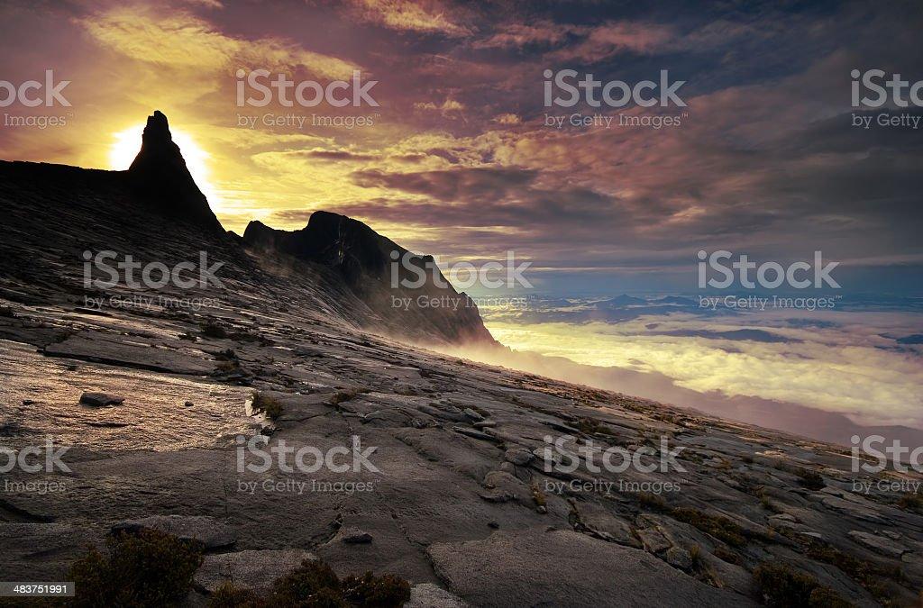 Sunrise On The Summit royalty-free stock photo