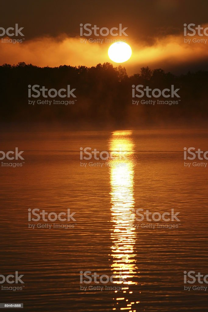 Sunrise on the Water - part 1 stock photo