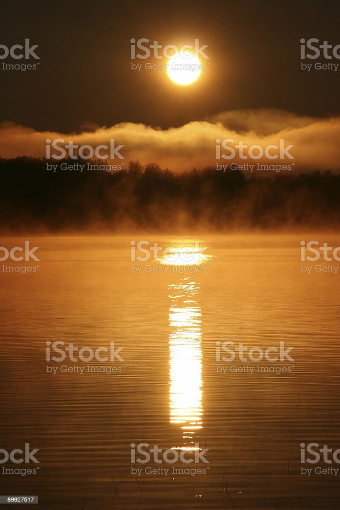 Sunrise on the Water part 2 royalty-free stock photo