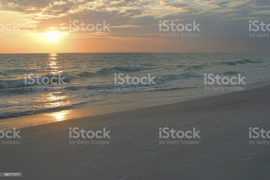 Sunrise or Sunset Florida beach Ocean - Gulf of Mexico stock photo