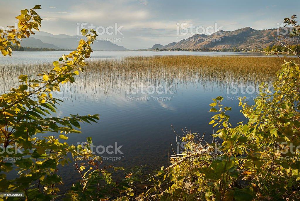 Sunrise Osoyoos Lake, British Columbia stock photo
