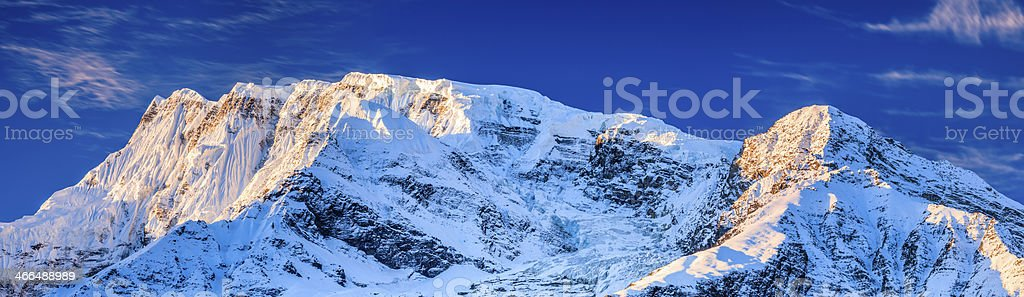 Sunrise over Annapurna Range 44MPix, Nepal royalty-free stock photo