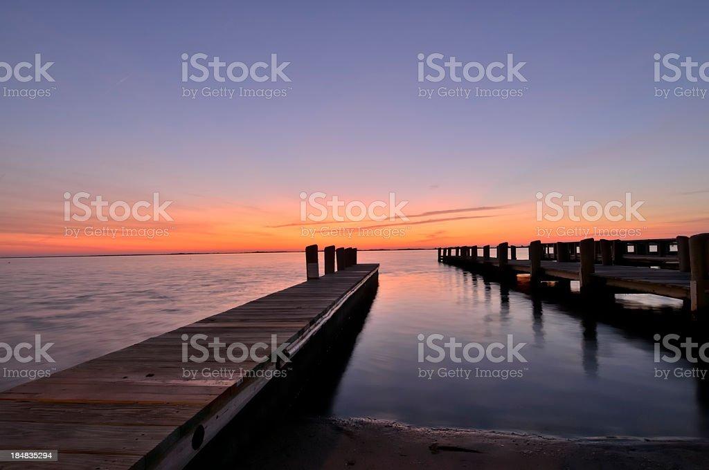 Sunrise Over Assateague Island stock photo