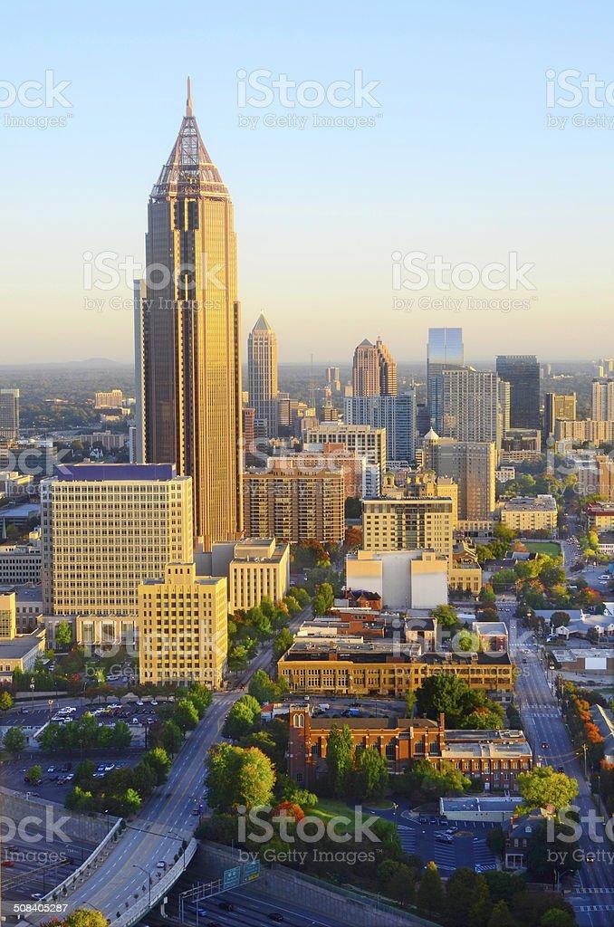 Sunrise Over Atlanta GA stock photo