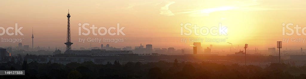 Sunrise over Berlin stock photo
