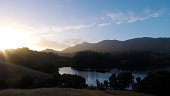 Sunrise over Bon Tempe Lake