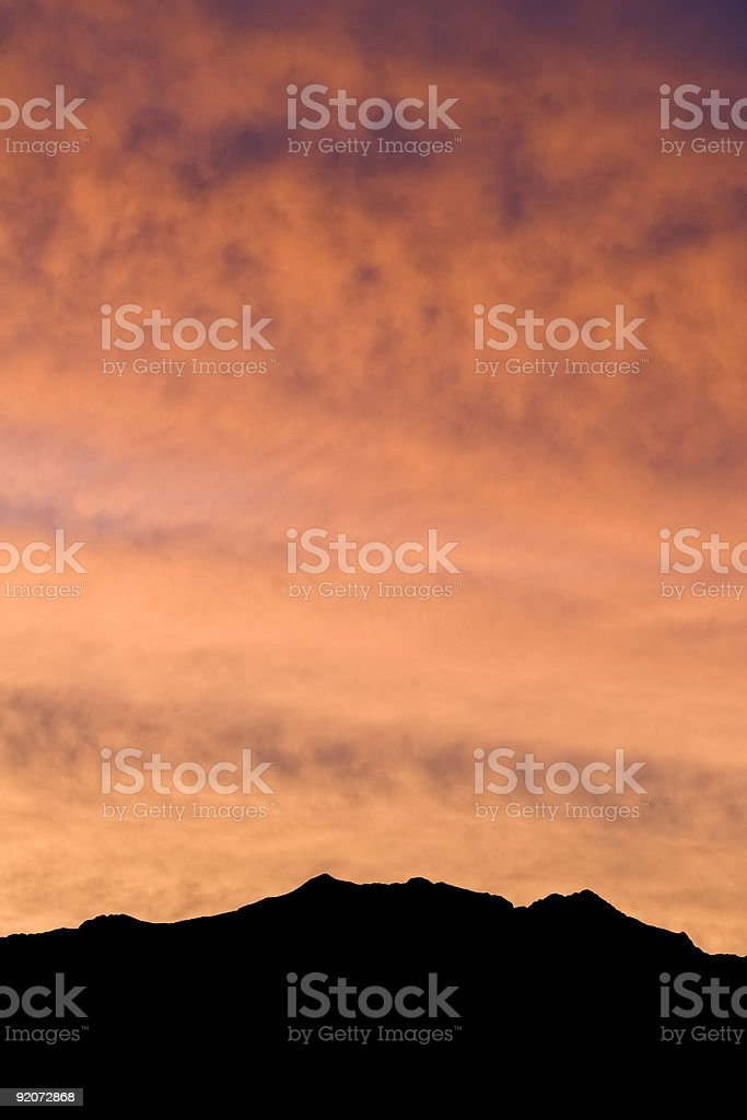 Sunrise over Death Valley Mountains royalty-free stock photo