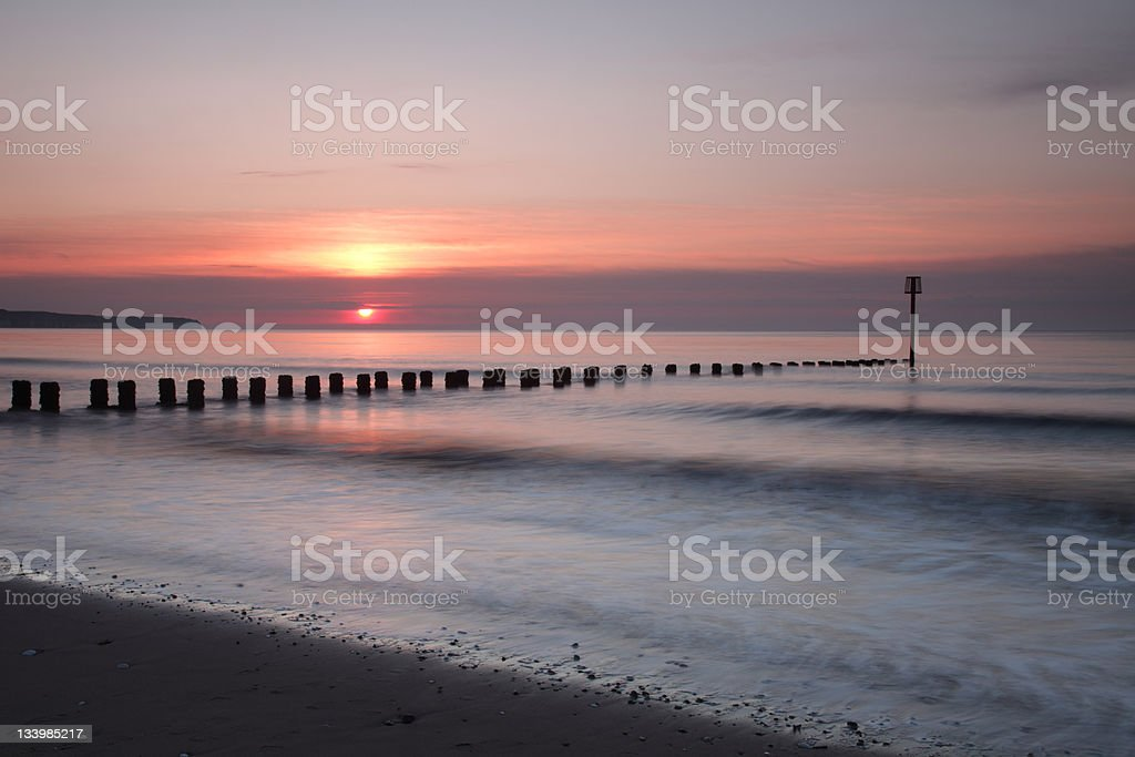 Sunrise Over Flamborough Head stock photo