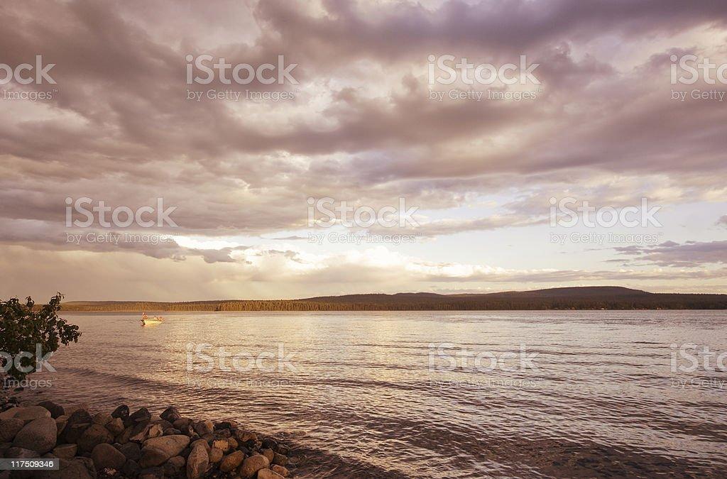 Sunrise over Green Lake royalty-free stock photo