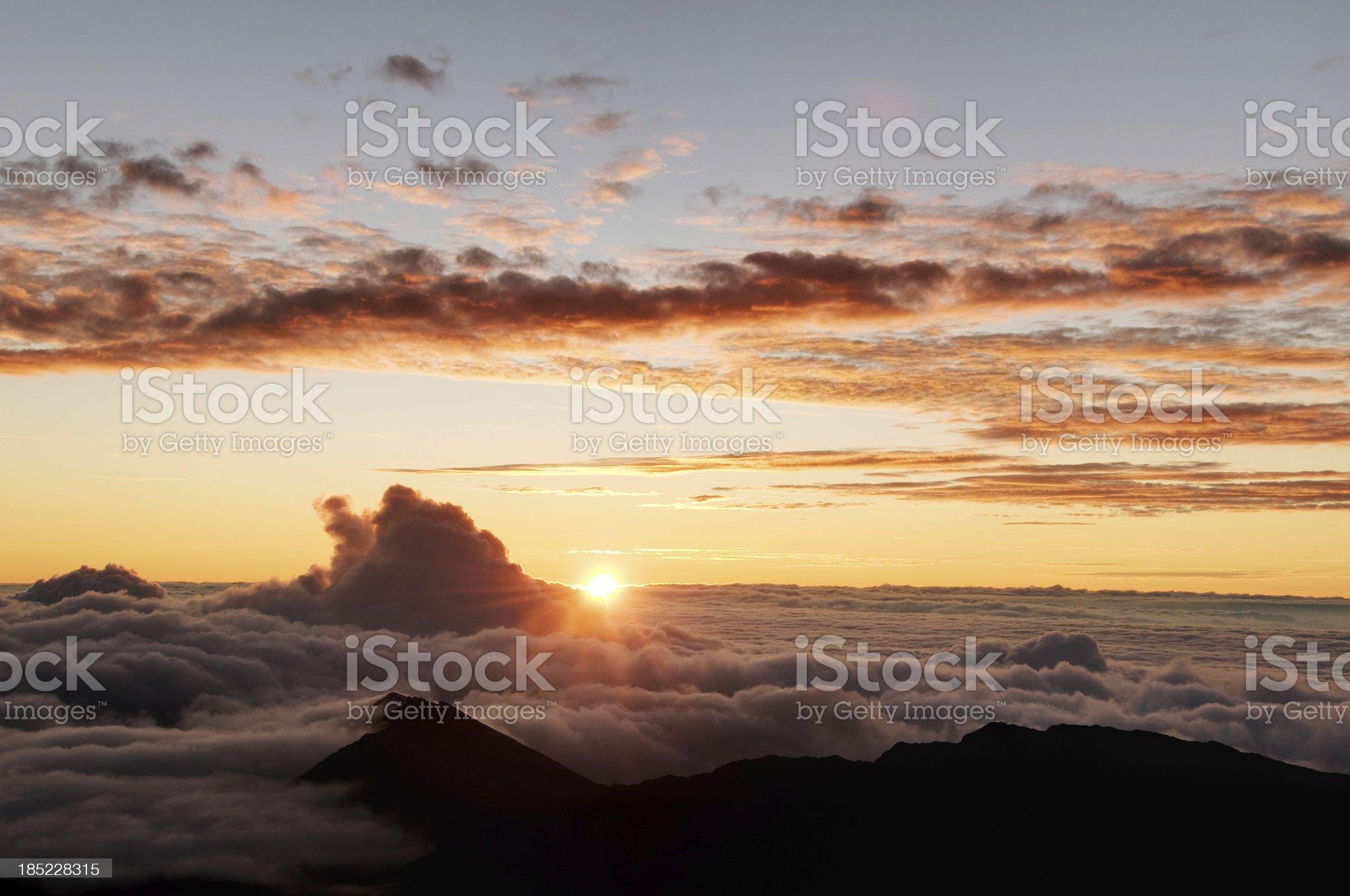 Sunrise over Haleakala Volcano, Maui royalty-free stock photo