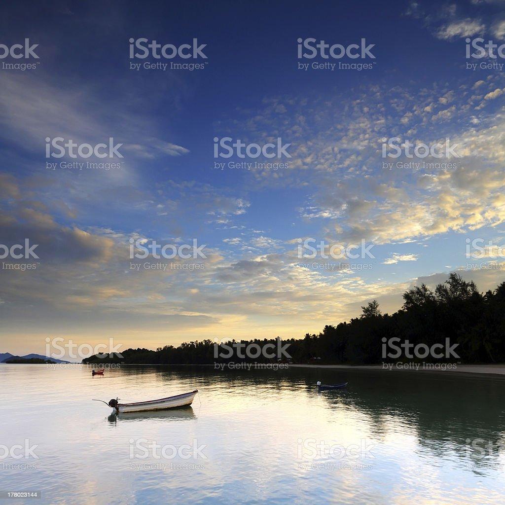 Sunrise over Koh Mak, Trat of Thaiand royalty-free stock photo