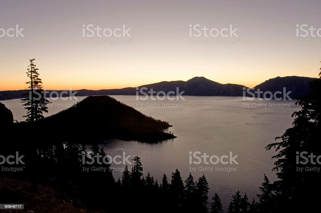 Sunrise over lake royalty-free stock photo
