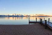 sunrise over lake tahoe, california