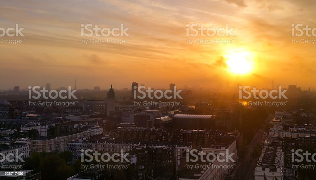 Sunrise Over London. stock photo