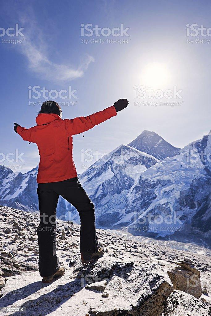 Sunrise over Mount Everest, Himalaya, Nepal royalty-free stock photo