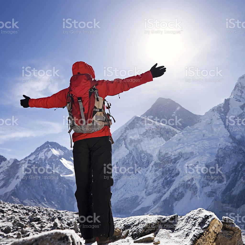 Sunrise over Mount Everest, Himalaya, Nepal royalty-free stock photo