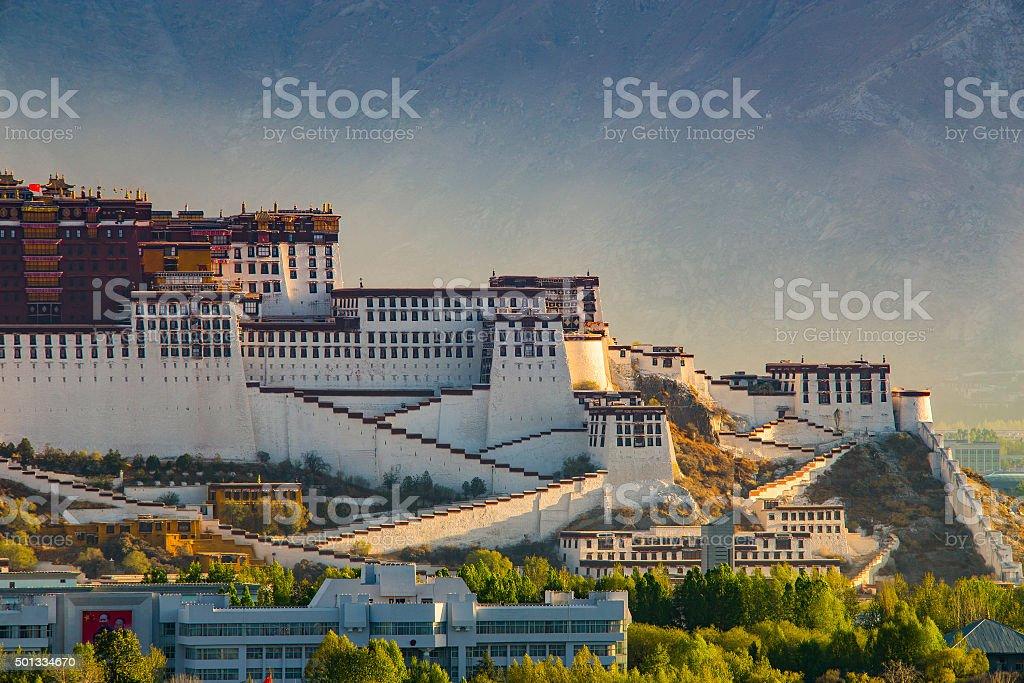 Sunrise Over Potala Palace, Tibet stock photo