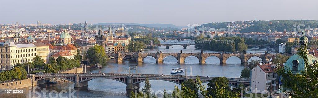 Sunrise over Prague. royalty-free stock photo