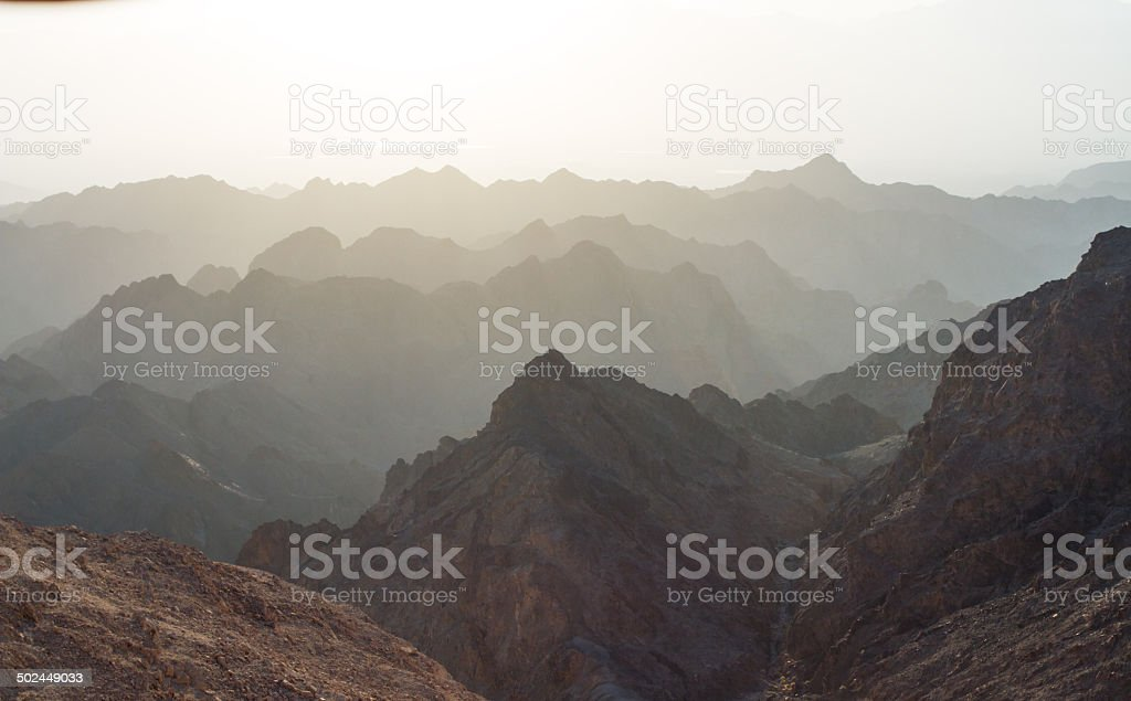 Sunrise over Red sea stock photo