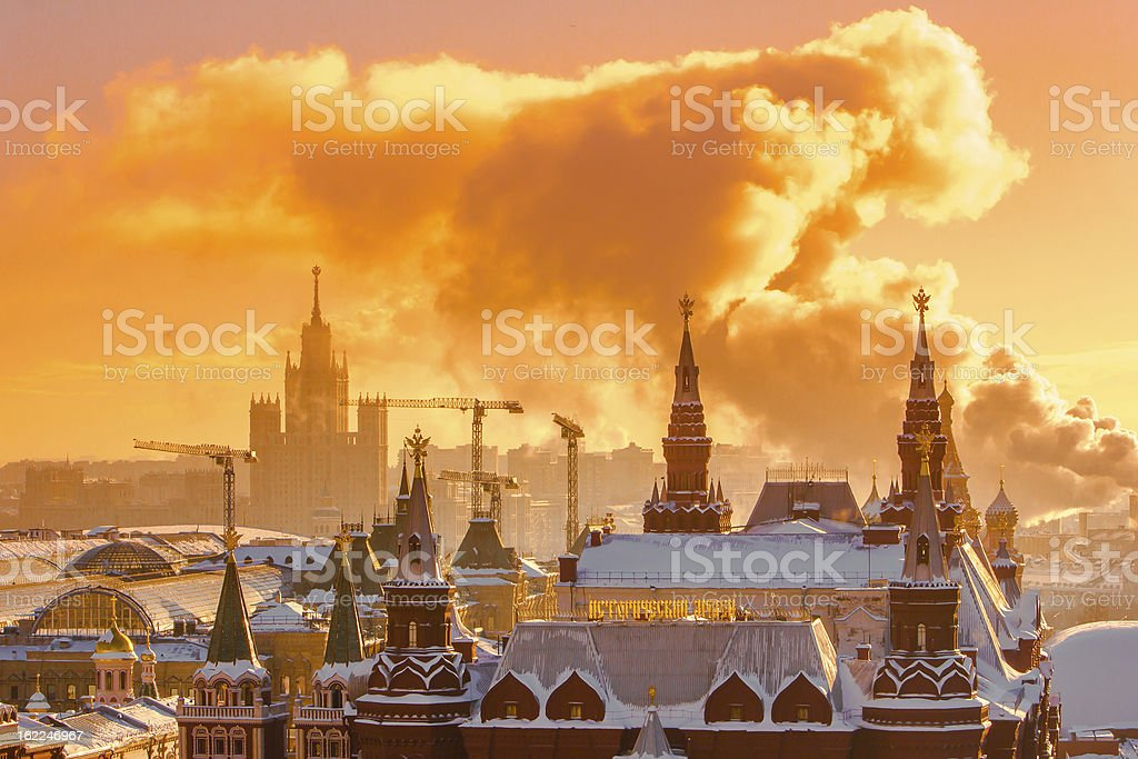Sunrise over Red Square royalty-free stock photo