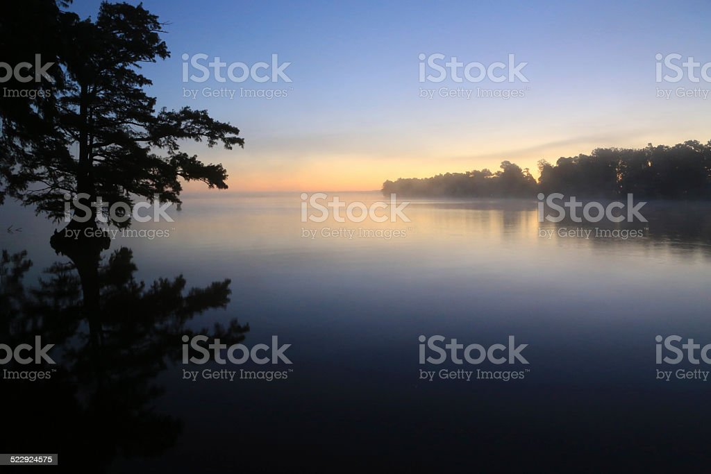 Sunrise over Reelfoot Lake stock photo