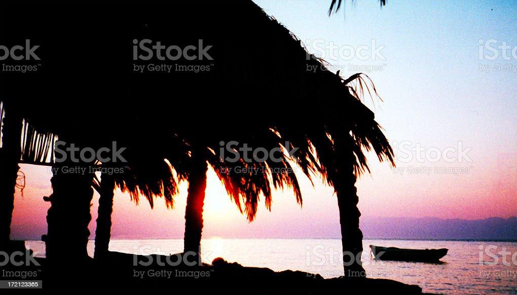 Sunrise over Saudi royalty-free stock photo