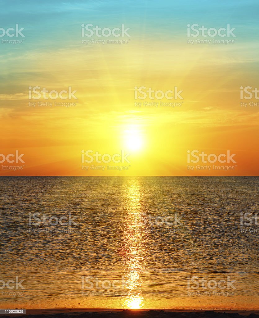 sunrise over sea stock photo