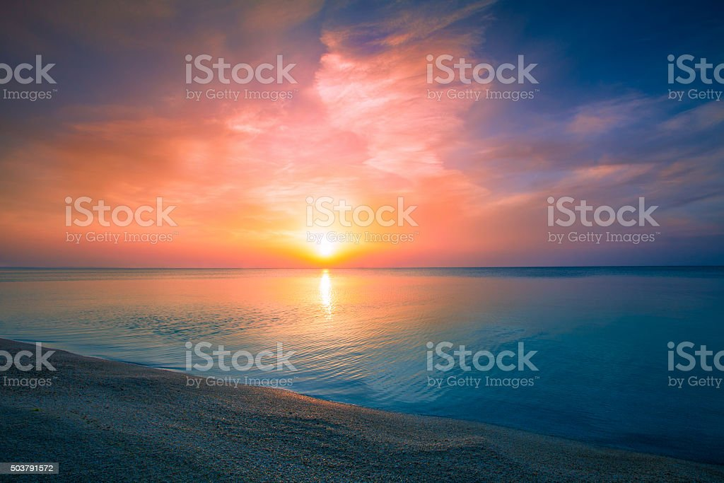Sunrise over sea royalty-free stock photo