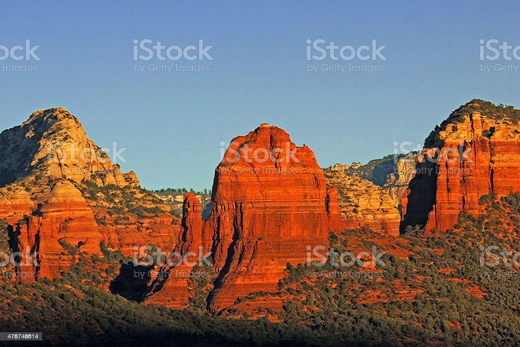 Sunrise over Sedona stock photo
