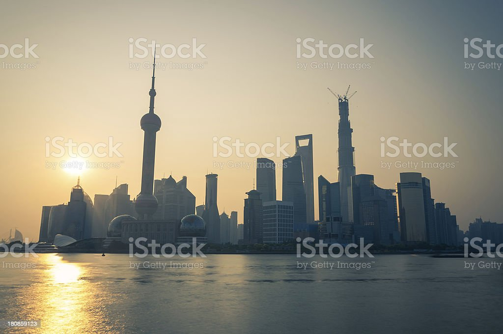 Sunrise Over Shanghai royalty-free stock photo