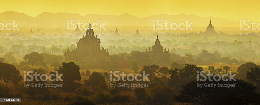 Sunrise over temples of Bagan royalty-free stock photo