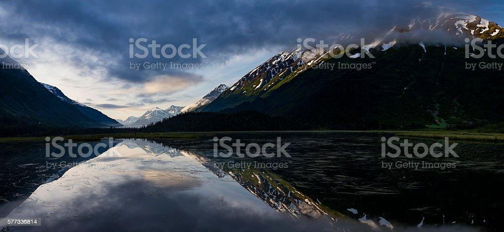 Sunrise over Tern Lake stock photo